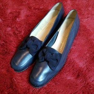 Salvatore Ferragamo blue flat sandals